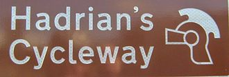 National Cycle Route 72 - Route Sign Hadrian's Cycleway