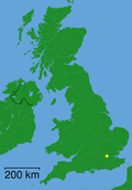 London shown within the UK