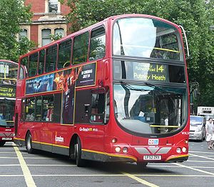 London Buses route 14 - Image: London General WVL38