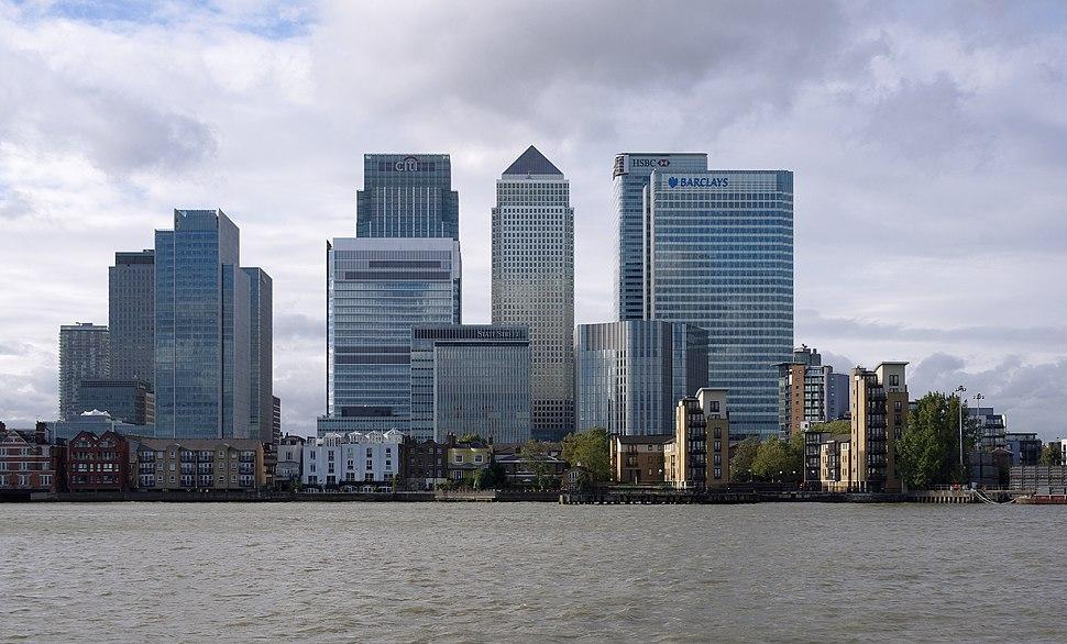 London MMB %C2%BB007 River Thames and Canary Wharf.jpg
