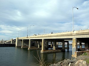Long Beach Bridge - Southwest view of the Long Beach Bridge