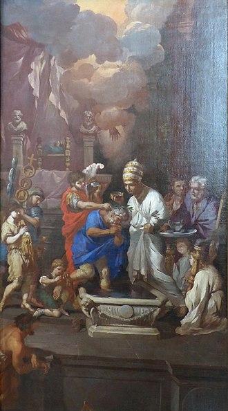 Pierre Puget - Image: Longchamp 046 Puget Baptême Constantin