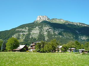 Altaussee - View of the Loser, the local mountain of Altaussee