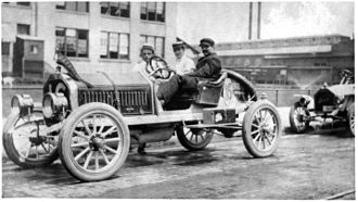 Louis Chevrolet - Louis Chevrolet in a Frontenac he designed, circa 1914.