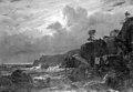 Louis Gurlitt - View of Kullen in Sweden. Smugglers Hiding their Goods among the Rocks. Moonlight - KMS241 - Statens Museum for Kunst.jpg