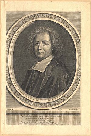 Louis Moréri - Louis Moréri, frontispiece, etching by Gerard Edelinck after a drawing by De Troyes, 17th century