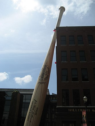 """Hillerich & Bradsby - The """"Largest Bat in the World"""" outside the Louisville Slugger Museum & Factory"""