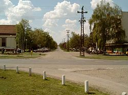 Lovćenac village, Vojvodina, Serbia, road intersection.jpg