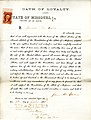Loyalty oath of James M. Sawin of Missouri, County of St. Louis.jpg