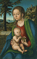 Lucas Cranach d. Ä. - Virgin and Child with a Bunch of Grapes - WGA05659.jpg