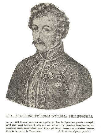 Battle of Mileto - Louis of Hesse-Philippsthal, the Bourbon commander.