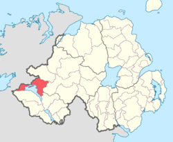 Location of Lurg, County Fermanagh, Northern Ireland.