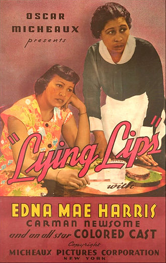 Edna Mae Harris - Harris (left) on poster for Lying Lips (1939.)