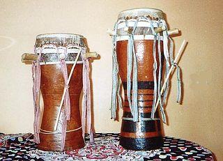 Sabar traditional drum from Senegal