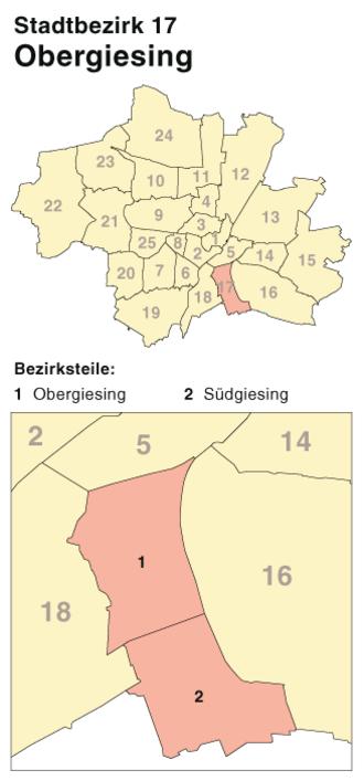 Obergiesing - District map