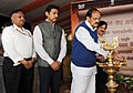 M. Venkaiah Naidu lighting the lamp to inaugurate the photo exhibition, during the 'Bharat Parv', organised by the Government of India as part of the Independence Day celebrations from 12th to 18th August, 2016.jpg