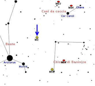 Messier 3 - Arcturus can be used to help locate M3