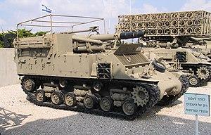 Post–World War II Sherman tanks - IDF M-50 self-propelled howitzer.
