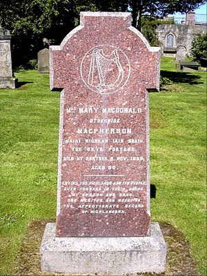 Mary MacPherson - Grave Stone of Mairi Mhòr in Chapel Yard Cemetery, Inverness