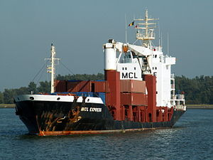 MCL Express waiting for the locks at Port of Antwerp 11-Oct-2005.jpg