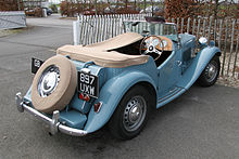 Mg Td Open Two Seater With Tonneau Cover Over Penger Seat And Luggage E