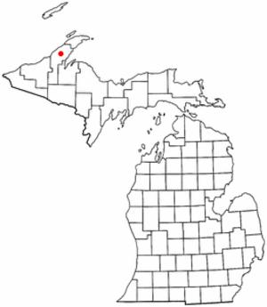Portage Township, Houghton County, Michigan - Image: MI Map doton Dodgeville