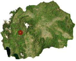 Makedonski Brods läge i Makedonien