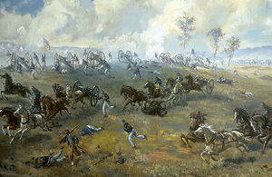 Turning point of the American Civil War - Confederates capture a Union battery during the First Battle of Bull Run