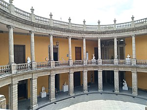Museo Nacional de San Carlos - Oval patio of the museum