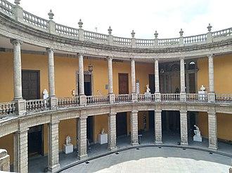 Museo Nacional de San Carlos - Oval patio of the museum