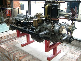 Henry Royce - Engine and gearbox of Royce's second car, now in MOSI, Manchester