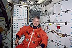 MS Garneau in his LES during re-entry preparations for STS-97.jpg