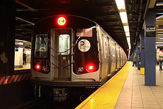 C (New York City Subway service) - Manhattan-bound C train of R179s at Jay Street–MetroTech.