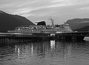 AMHS's flagship, the M/V Columbia.