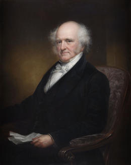 gubernatorial portrait of martin van buren by daniel huntington