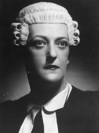 Barrister - Margaret Battye, 1930s Australian court dress