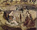 Maître des Cassoni Campana - La légende crétoise en quatre compositions (détail Labyrinthe) - 1500-1525.jpg