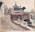 Maastricht, OLV-wal en Batpoort (Van der Noordaa, 1845).jpg
