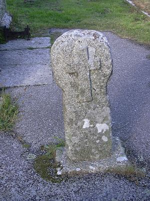 Mabe, Cornwall - The cross in the churchyard