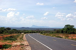 Road in Machakos County showing the landscape