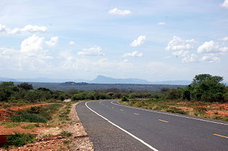 Machakos County - Road in Machakos County showing the landscape