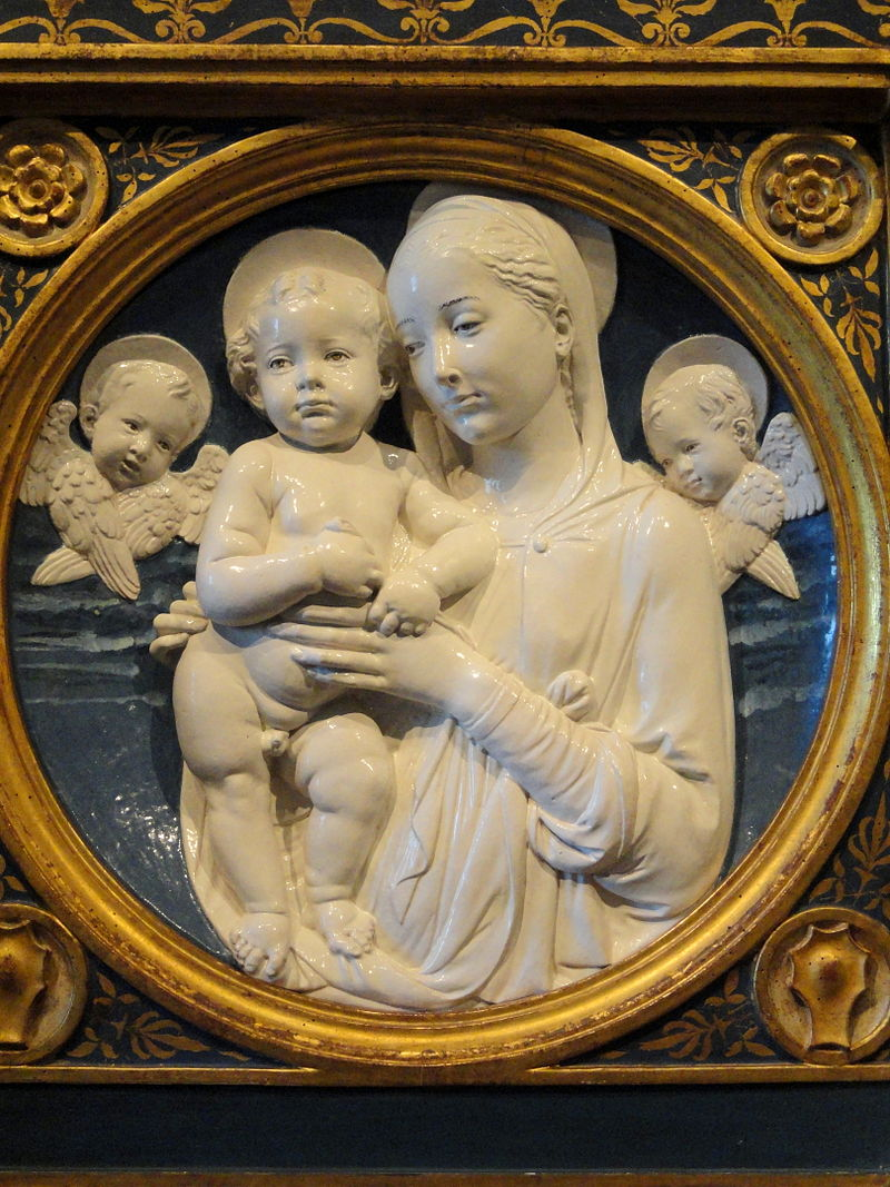Madonna and Child with Cherubs by Andrea della Robbia - National Gallery of Art, Washington - DSC08614.JPG