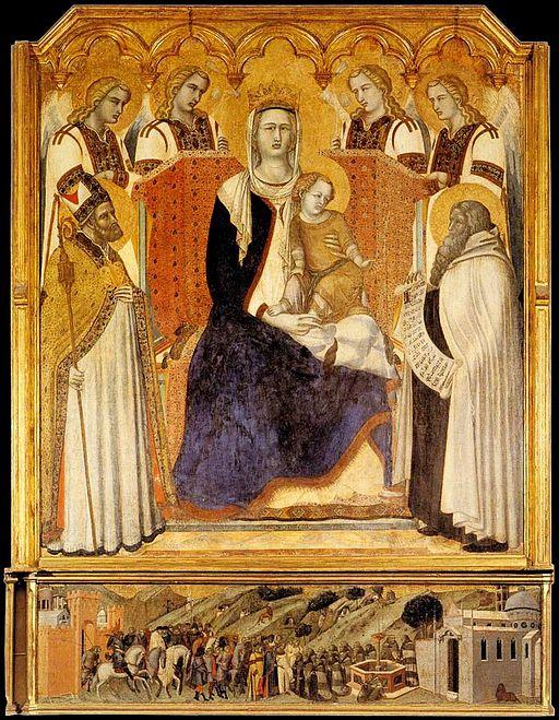 Madonna with Child Pietro Lorenzetti Siena Pinacoteca