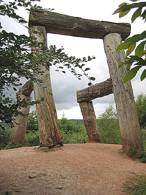Magdalena Jetelová - 'Place' by Magdelena Jetelova was installed at The Forest of Dean Sculpture Trail in 1986.