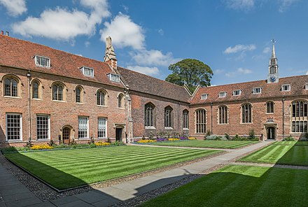 First Court facing the chapel (middle) and the hall (right) Magdalene College First Court, Cambridge, UK - Diliff.jpg