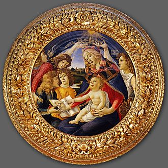 Mary (name) - The Glorification of Mary by Botticelli. The reverence for Mary, the mother of Jesus, is in large part responsible for the use of the name Mary and its variants.