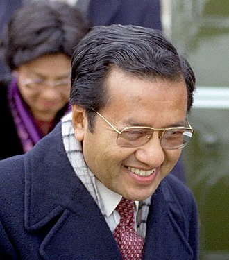 1990 Malaysian general election - Image: Mahathir 1984 cropped
