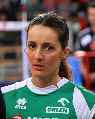 Olympiacos women's volleyball - Image: Maja Ognjenovic 2013 01