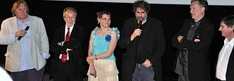 Mammuth - Directors, stars and producers at a premiere in Paris.