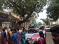 Manakula Vinayagar Temple street performing new car pooja.JPG